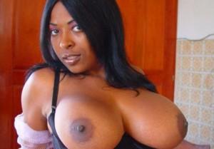 Shanina - schwarzes girl mit grosse titten